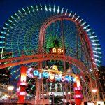横浜のシンボル、コスモワールドの大観覧車は全高112.5mの世界最大の時計機能がついてるよ♪