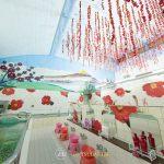 内装は椿一色で華やか!TSUBAKI×蜷川実花のコラボ銭湯が期間限定オープン!